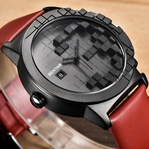3D Design Auto Date Casual Watch
