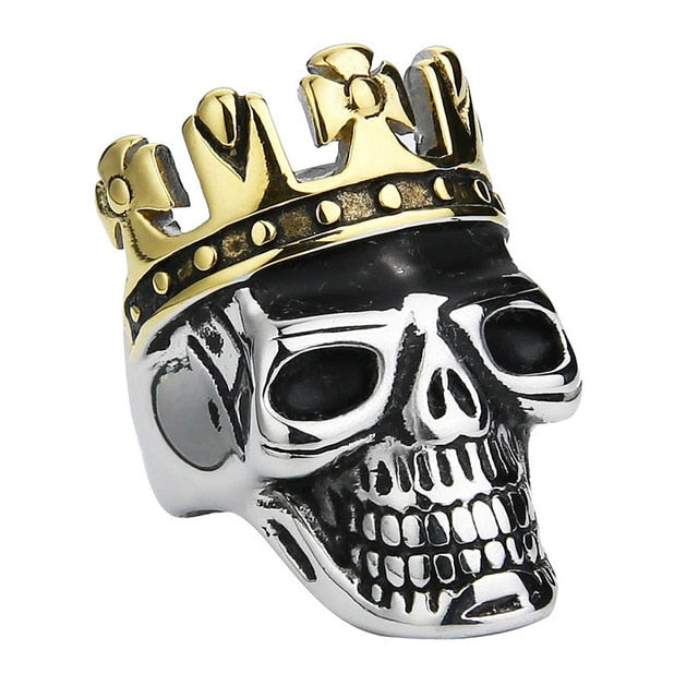 Skull Cross Crown Ring