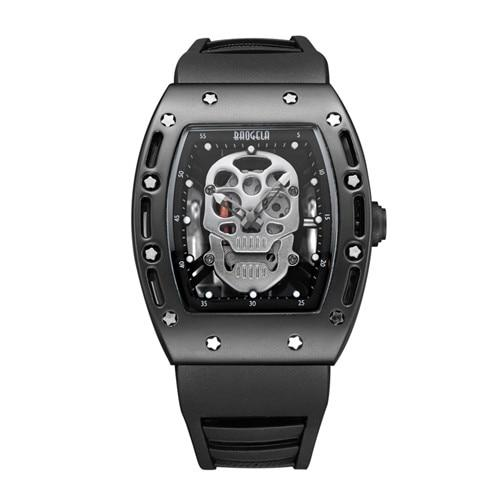 Pirate Skull Rubber Strap Watch - BrapWrap