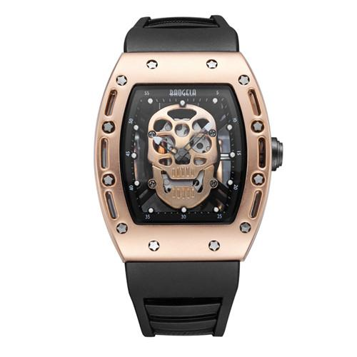 Pirate Skull Rubber Strap Watch