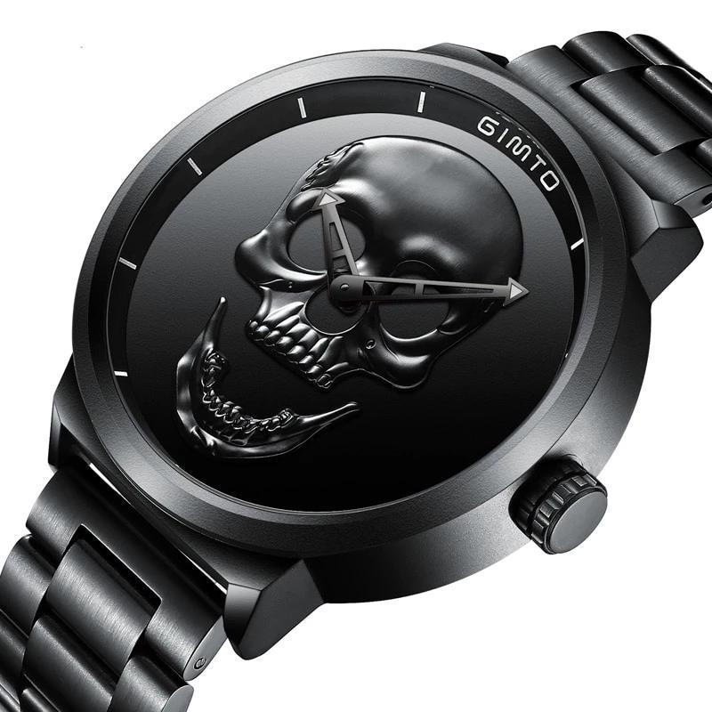 GIMTO LUXURY STEEL WATER RESISTANT MALE WATCHES