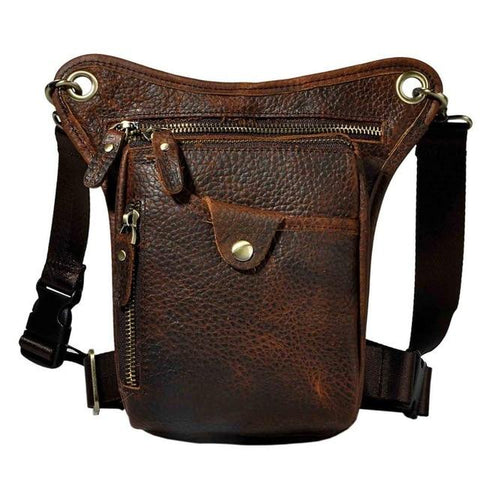 Genuine Leather Cross-body Sling Bag - BrapWrap