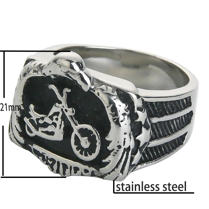 Eagle Embracing Motorbike Chopper Ring