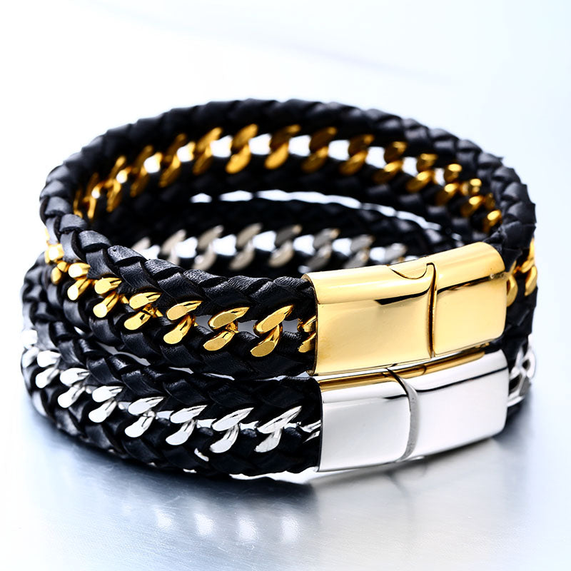 Simple Style Leather Bracelet