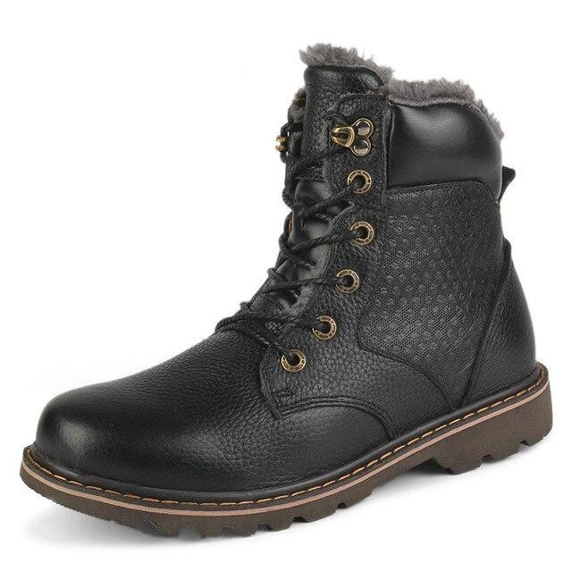 Genuine Leather Fashion Boots - BrapWrap