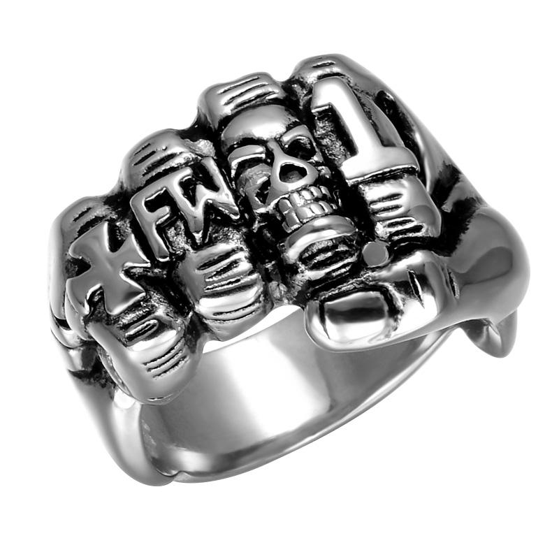 First Finger skull Biker Ring - Limited Edition