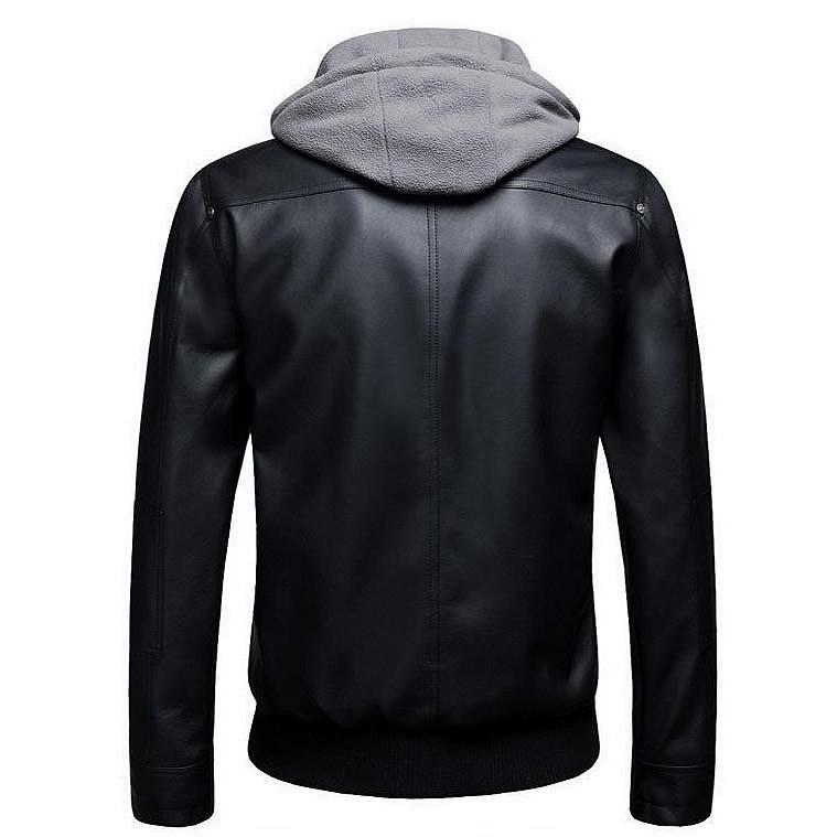Black PU Faux Leather Rider Jacket - BrapWrap
