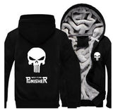 PUNISHER SKULL ZIPPER HOODIE
