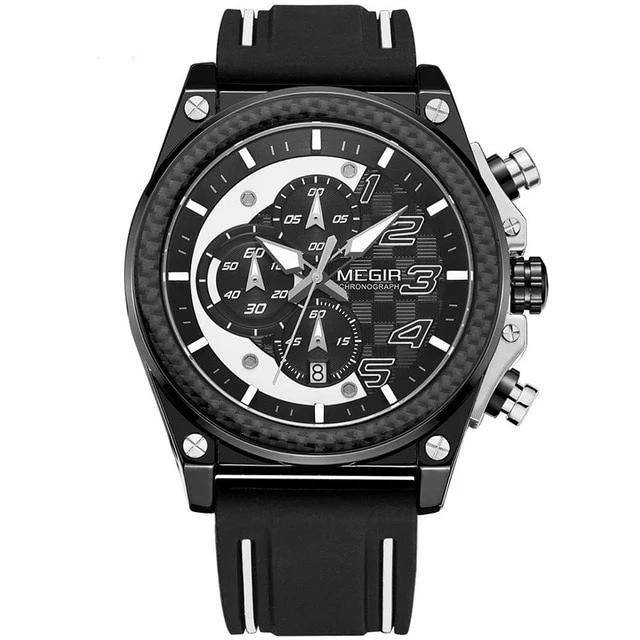 Rubber Strap Chronograph Sports Watch For Bikers
