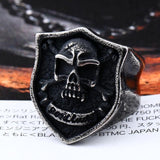 Biker Skull Vintage GOOD LUCKY Ring For Bikers - BrapWrap