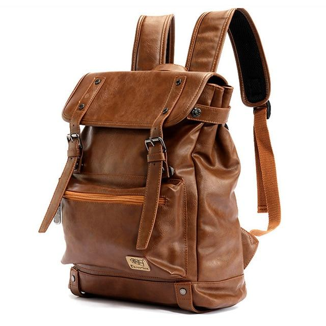 Leather Casual Travel Backpack - BrapWrap