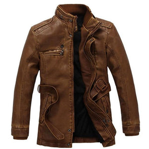 Motorcycle Rider Leather Coat