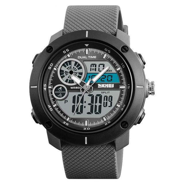 Outdoor Analog Digital Rubber Strap Sports Watch
