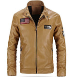 USA Logo Leather Jacket