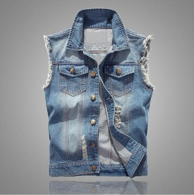 Denim Vest for Moto Lovers