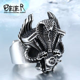 Snake Engine Viking Ring