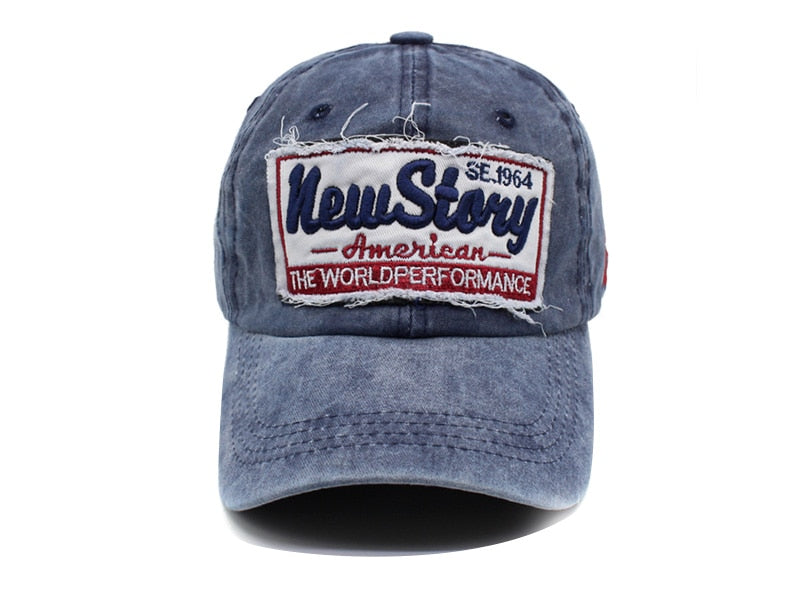 Trucker Style Biker Hat New Story Stitched Cotton
