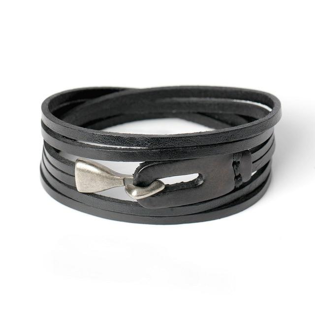 Multi layer Leather Bracelet - BrapWrap