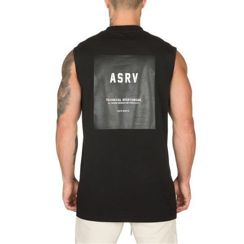 Tactical Sportswear Letter ASRV Shirt Tank Top