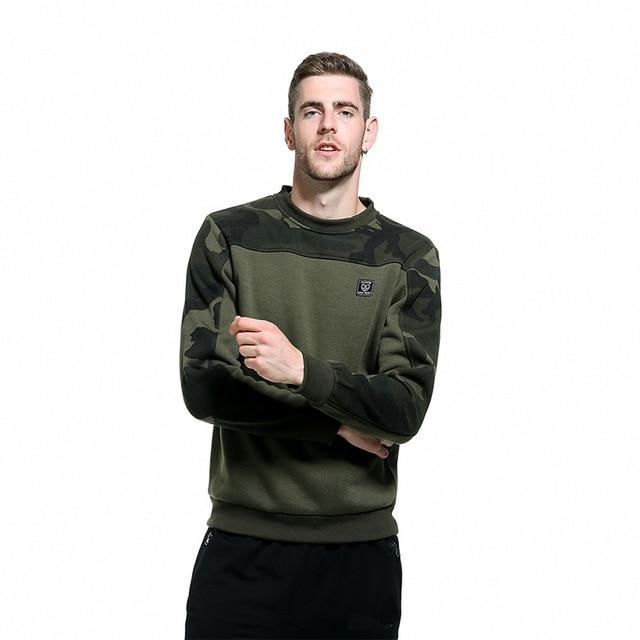 Insulated Men's Front Pocket Military Sweatshirt - BrapWrap