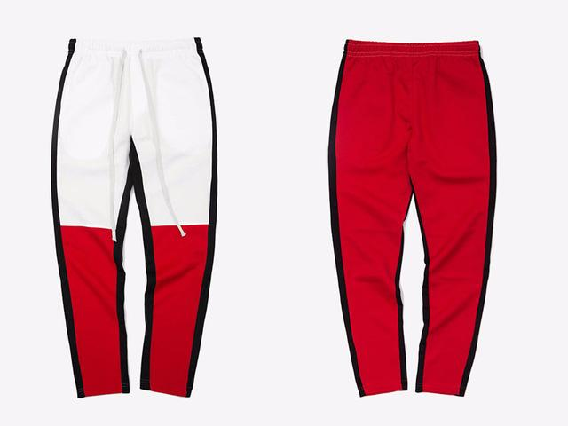 Hot Color Block Patchwork Joggers