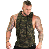 Military Print Hooded Tank Top