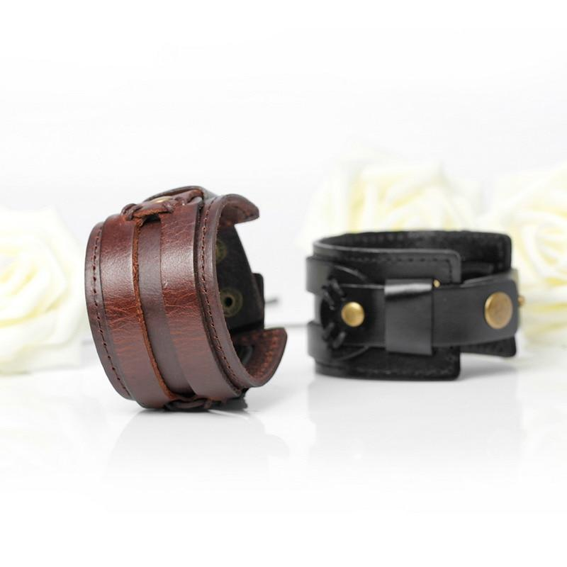 Moto Biker Leather Bracelet