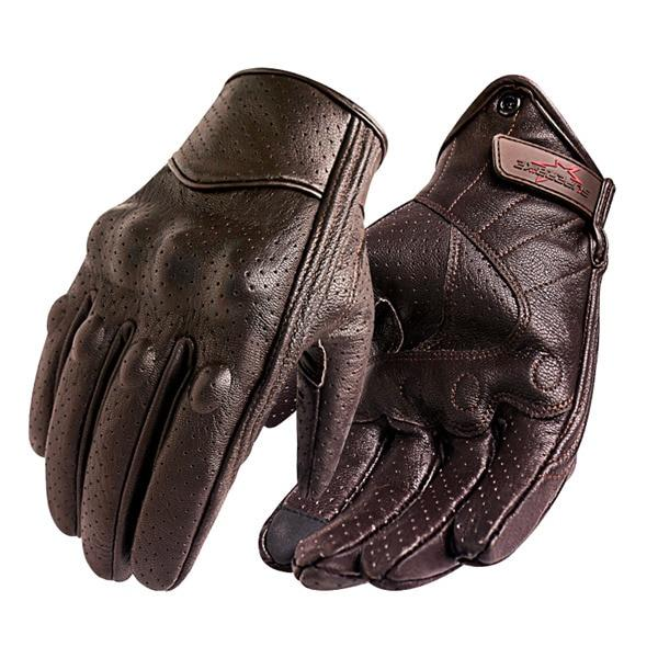 Genuine Leather Touch Screen Gloves - BrapWrap