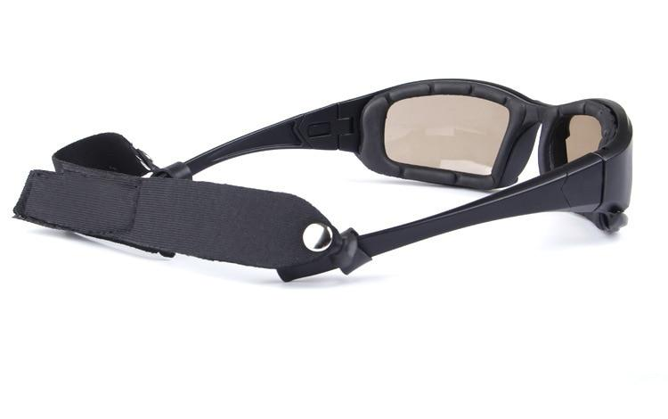 Comfort Fit Biker Sunglasses with UV Protective Lens - BrapWrap