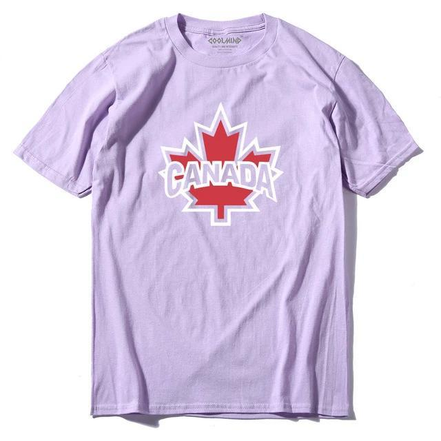 Canada Maple Printed Cotton T Shirt - BrapWrap