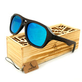 Vintage Wood Sunglasses 100% Natural Bamboo Wood + Gift Box