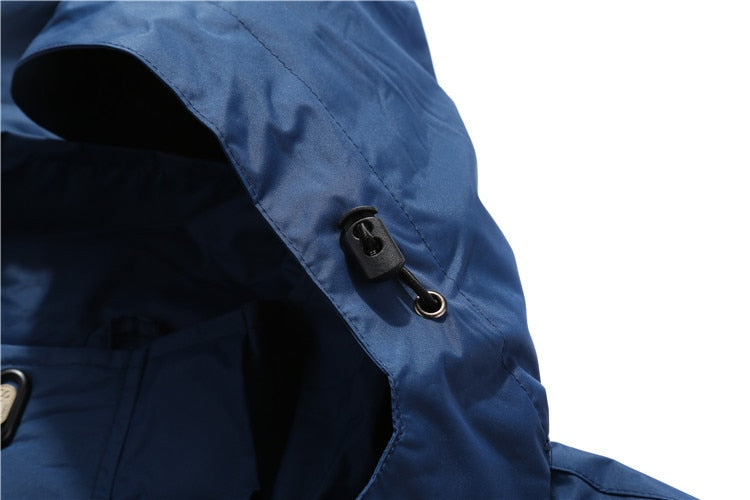 Waterproof Windbreaker Hooded  Riders Jacket