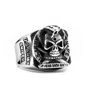 US Army Biker steel ring