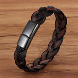 Ethnic Style Brown Color Leather Bracelet - BrapWrap