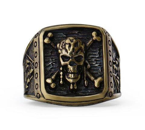 Pirate Skull Captain Ring