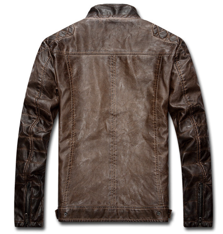 Warm Leather Motorcycle Rider Jacket