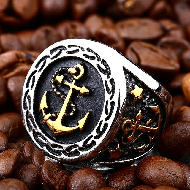 Anchor Steel Ring for Bikers - BrapWrap
