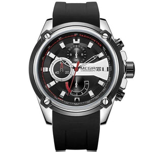 Chronograph Rubber Strap Sports Watch