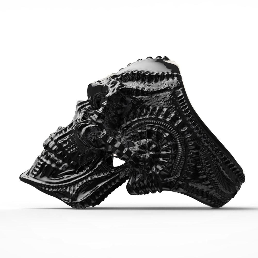 Alien Skull Ring Fine Detail Punk Gothic Jewelry - BrapWrap