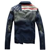 USA Flag Design Denim Jacket