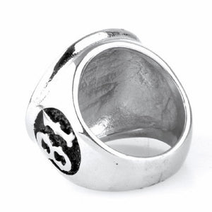 Stainless Steel Sports 81 Men's Ring