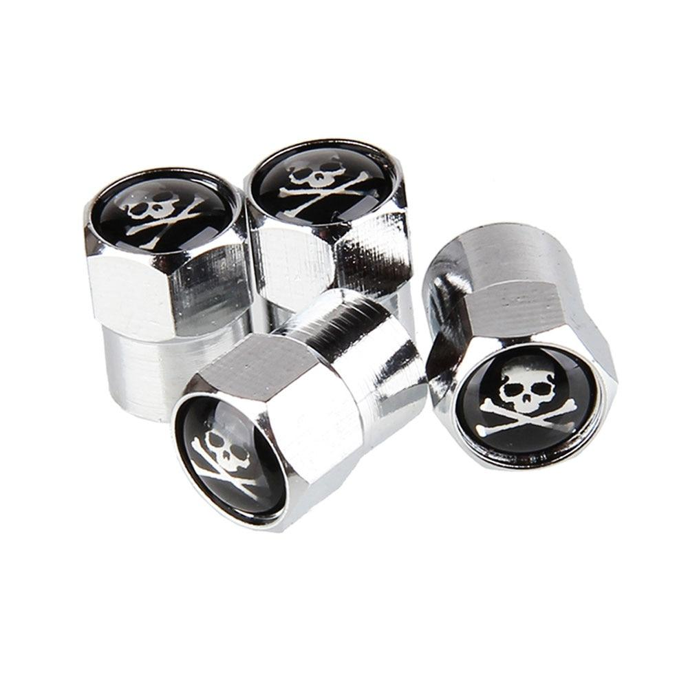 4Pcs/Set SKULL Style Bike Motorcycle Car Tire Valve