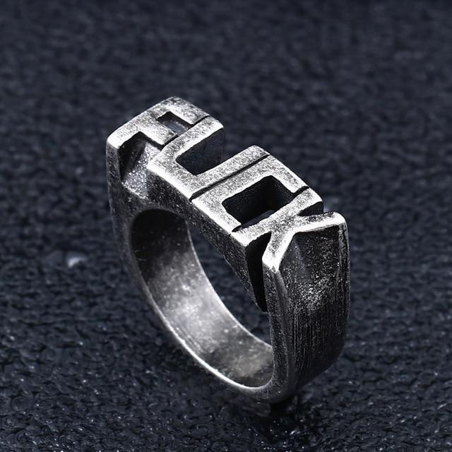 MEN'S THE F WORD RING