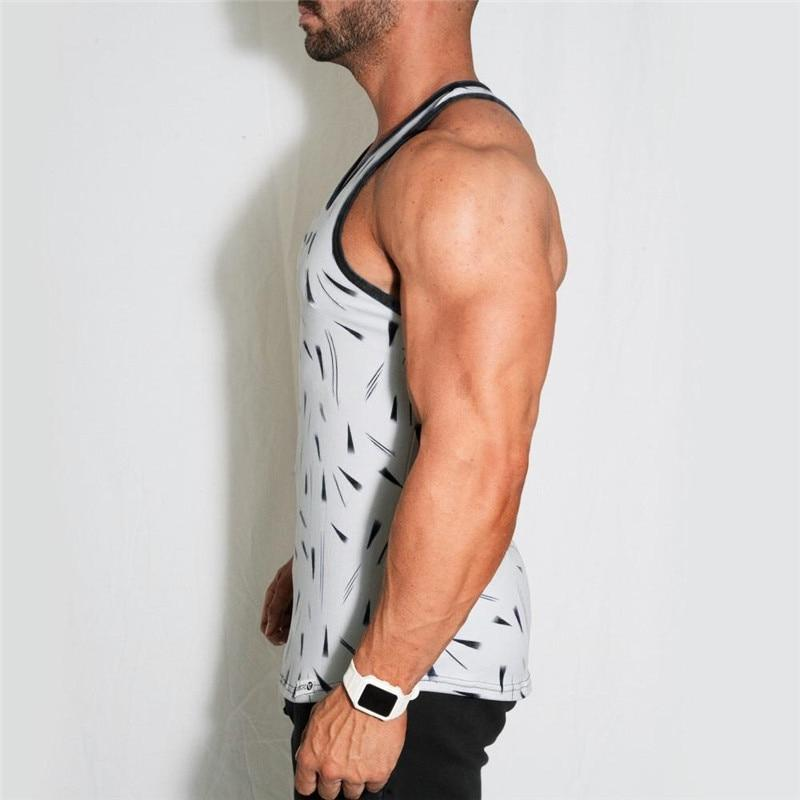 Print White with Black Outline Tank Top
