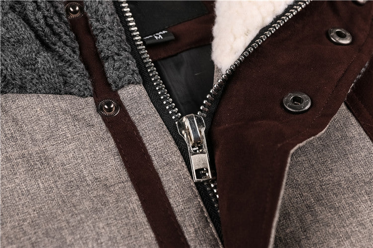 Thick Cotton Hooded Jacket