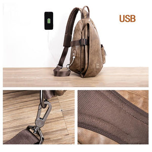 Anti-thief USB charging Shoulder Bags