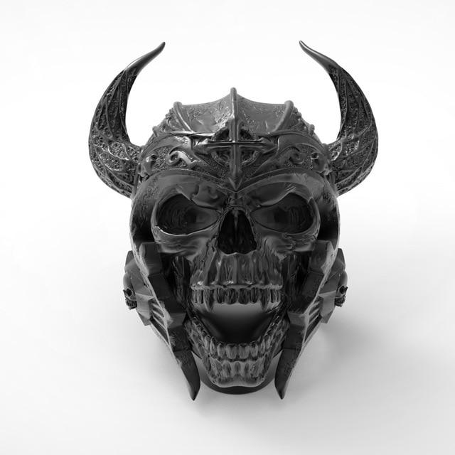 Skull Knights Templar Helmet Warrior Ring