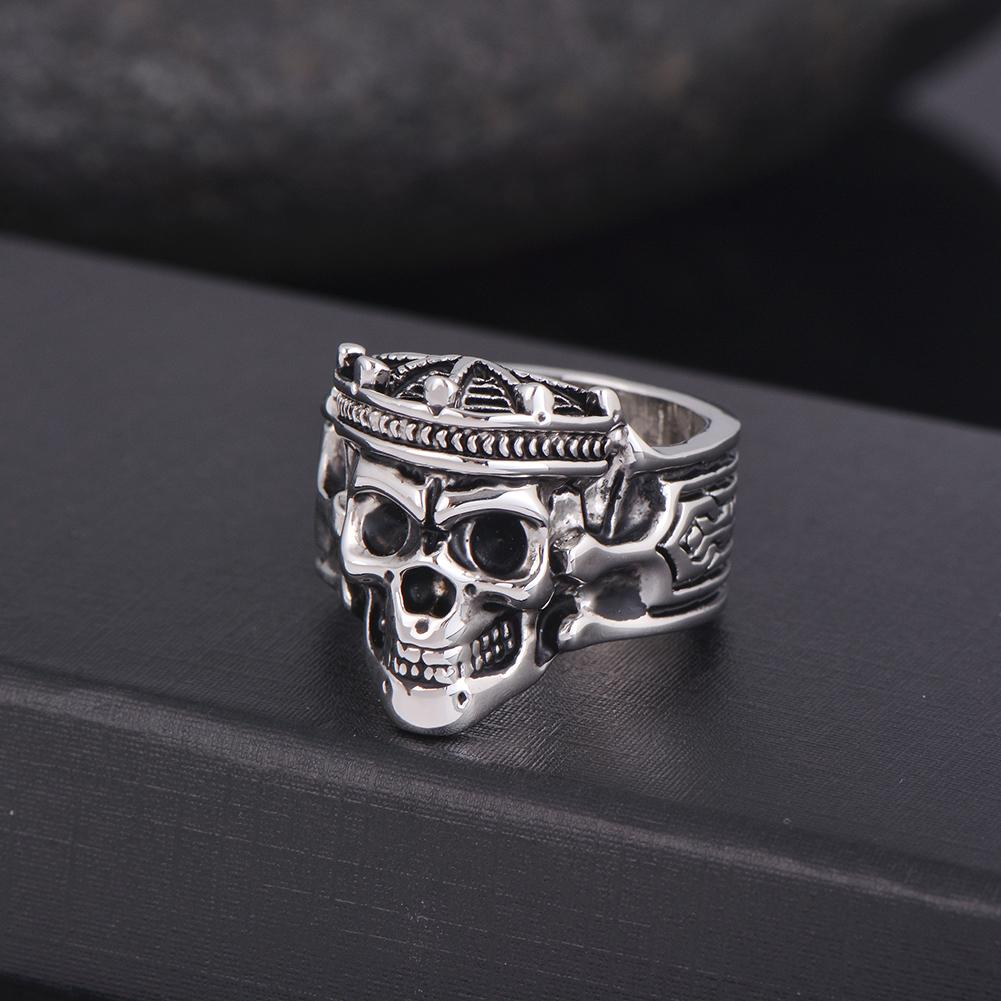 Crown Skull King Ring