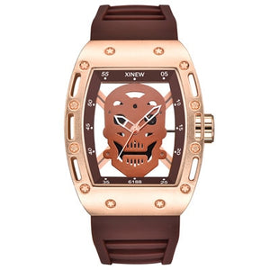 Skeleton Skull Rubber Strap Watch