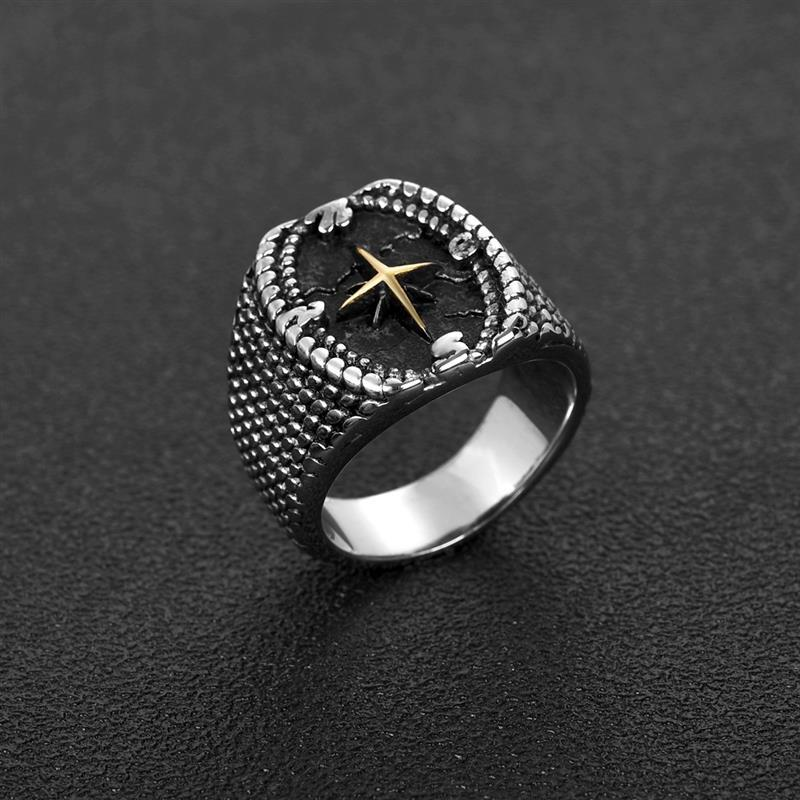 Compass Design Vintage Ring